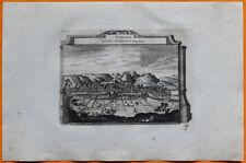 VAN DER AA Gravure originale c1725 VUE DE VIENNE Viennois Dauphiné Isère Rhône