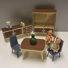 Puppenstuben Möbel Puppenmöbel 60er Teak Design Stahlrohr Chair Sideboard kult