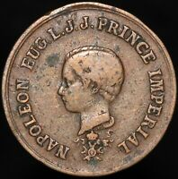 Prince Imperial Napoleon Eugene And Napoleon III Medal | Medals | KM Coins