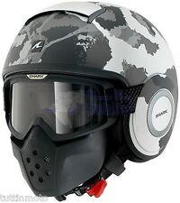 Casco Helmet helm capacete SHARK Raw Kurtz Mat BLANCO PLATA CAMUFLAJE TG XL
