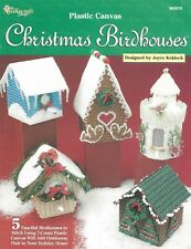 Christmas Birdhouses Plastic Canvas Gingerbread Log Cabin Country Cottage Palace