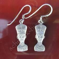 Orecchini NOFRETETE EGIZIANO FARAONE EGITTO argento sterling 925 pendenti