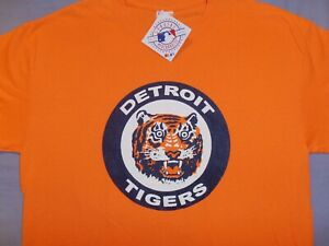 Brand New w/tags DETROIT TIGERS Vintage Logo ORANGE T Shirt