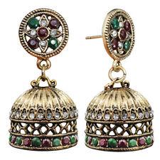Ethnic Bali Jhumka Jhumki Brocade Crystals Mexico Gypsy Dangle Earrings Jewelry