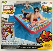 SwimWays Marvel Comic Book Float Iron Man 60x40 Large Pool Lake Toy Raft New