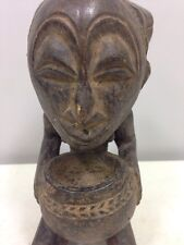 African Statue Zaire Africa Luba Cup Bearer Statue