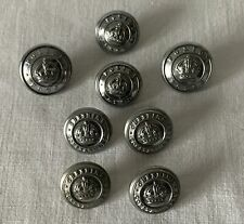 8 Vintage Mixed Police Uniform Buttons PF11