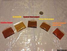2.3 Grams Powder: Carolina Reaper Butch T Aji Amarillo Ghost Pepper Red & Yellow