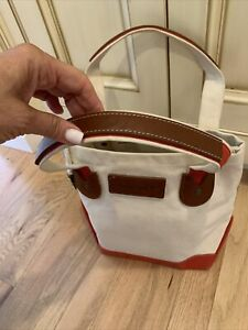 Timberland unisex Classic Khaki Tan brown leather red TOTE BAG