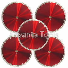 "5PK 14"" Diamond Saw Blade for  Block Concrete Paver Brick Refractory Brick -15MM"
