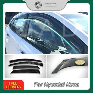 Premium Weathershields Weather Shields Window Visors for Hyundai Kona 17+ SJ