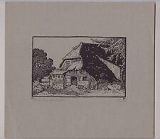 Holzschnitt Schwarzwaldhof signiert Proch - Badischer Künstler - um 1940