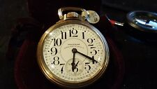 Waltham Size 16 Pocket Watch 23 Jewel Vanguard Stem Wind Lever Set Railrad watch