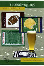 Football Mug Rugs Machine Embroidery Pattern Cd, From Amelie Scott Designs New