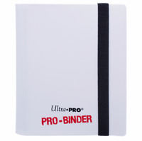 Ultra Pro 2 Pocket PRO BINDER WHITE 20 Pages Holds 80 Gaming/Trading Cards