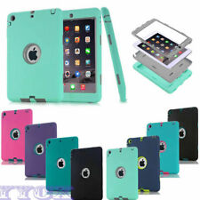 Defender Shockproof Silicone & PC Kids Hybrid 2 Layer Cover Case For iPad 1/2/3