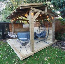 More details for wooden gazebo 3.6m x 2.4m hot tub shelter, outdoor timber garden gazebo pergola