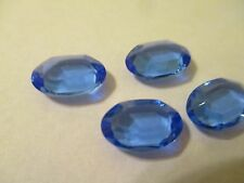24 Swarovski Oval Channel Stones Crystal 12x8mm Ssapphire Unfoiled     Art4110/2