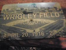 CHICAGO CUBS  WRIGLEY FIELD  Stadium seat PLAQUE