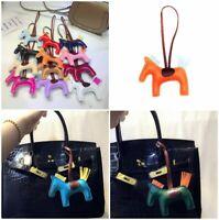 Animal Leather Horse Accessorie Handmade Pendant Charm Bag Keychain Faux Fashion