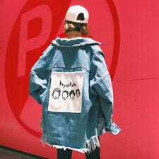 Japanese Style Women's Korean Harajuku BF Loose Cowboy Coat Girls Fashion jacket