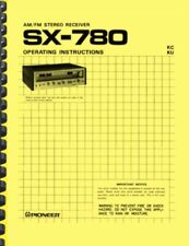 Pioneer SX-780 Stereo Receiver OWNER'S MANUAL and SERVICE MANUAL