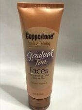 Coppertone Sunless Tanning Moisturizing Lotion Gradual Tan, Faces, 2.5 fl oz.