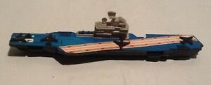 Tootsietoy WWII Navy Aircraft Carrier Diecast Military Boat Cast Hull On Wheels