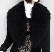 Genuine Real Mongolian Lamb Fur Collar Fur Festival Fashion Scarves Wraps Scarf