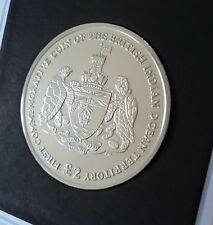 2009 British Indian Ocean Territory Chagos Islands Isles £2 Coin (BU) in Case