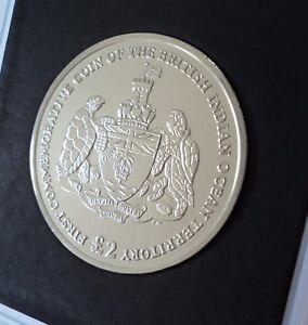 2009 British Indian Ocean Territory Chagos Islands Isles £2 Coin BU UNC in Case