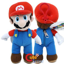 "Nintendo Super Mario Plush Doll Key Chain with Coin Bag - 7"" Plush Clip On"