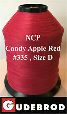 Gudebrod Candy Apple Red #335 Ncp Rod Building Thread 4 oz Size D, 1600 Yards
