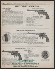 1942 COLT Camp Perry Model, New Service Target and Shooting Master Revolver AD
