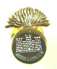 ROYAL INNISKILLING FUSILIERS  HAND MADE IN UK PLATED LAPEL PIN BADGE