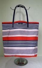Kate Spade pink and navy striped bon shopper tote bag