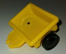 Fisher Price Little People Yellow Motorcycle Trailer Toy Figures