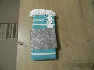 NEW IN PACKAGE MATILDA JANE PERFECTLY PAIRED STRIPE SOCKS SEA BLUE SMALL NWT
