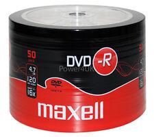 MAXELL DVD-R 16x 4.7gb BLANK MEDIA DVD Dischi Confezione da 50 con contorno continuo