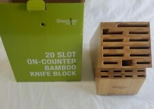 New listing 20 Slot Bamboo Universal Knife Block/Holder Without Knives by Shenzhen Knives
