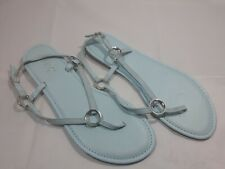Rouge Helium Women's Thong Flat Sandals Size 10 Light Blue