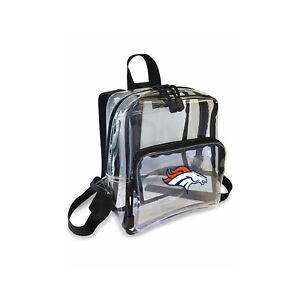 "Football Denver Broncos Mini Clear Stadium Backpack 10"" x 3"" x 8"" Licensed"