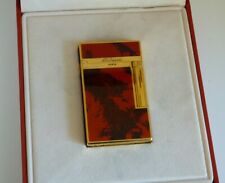 S.T. Dupont Montparnasse Lighter - Rare Lacquered Design/Gold Plated Trim-Boxed