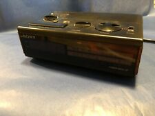 Vintage Sony Dream Machine FM/AM Digital Clock Radio, Black