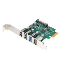 PCI-E To USB3.0 5Gbps Speed Expansion Card Adapter with Low Profile Bracket P2O9