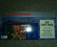 "MARINELAND Fish Aquarium LED LIGHT HOOD Day & Night Light 20"" x 10"" NEW"