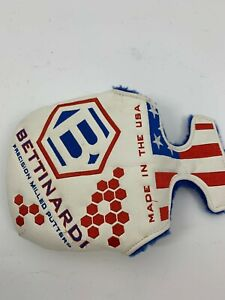 Golf Putter Headcover Bettinardi Mallet Leather American Flag S057