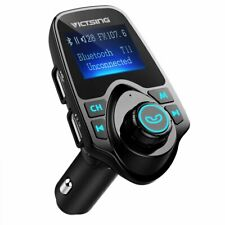 Victsing 1.44 Large Lcd Screen Wireless Bluetooth Car Fm Transmitter Usb Charger