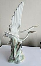 NAO Porcelain figurine, Two HERON Birds in Flight