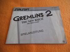 Gremlins 2 Anleitung Nintendo NES Beschreibung Manual
